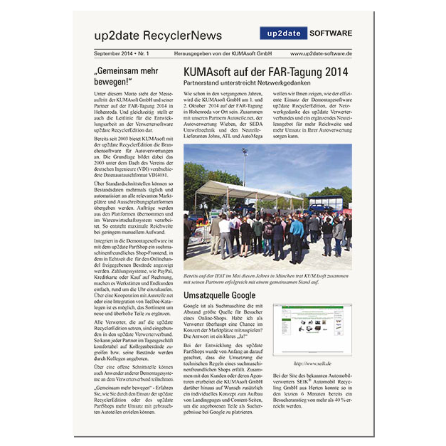 up2date RecyclerNews #1