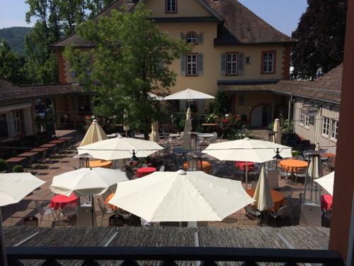 Villa Watthalden, Innenhof